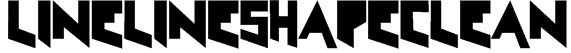 LineLineShapeClean Font