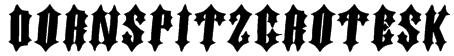 DornspitzGrotesk Font