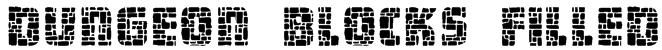 Dungeon Blocks Filled Font