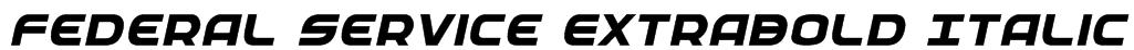 Federal Service ExtraBold Italic Font