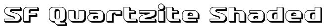 SF Quartzite Shaded Font