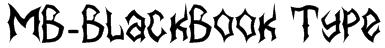 MB-BlackBook Type Font