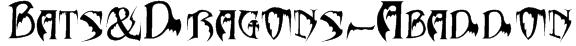 Bats&Dragons-Abaddon Font