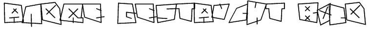 andre gestaucht bold Font