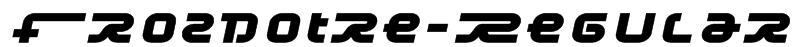 Frozdotre-Regular Font