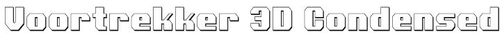 Voortrekker 3D Condensed Font