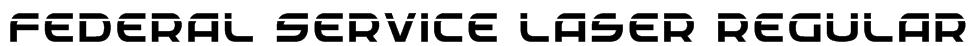 Federal Service Laser Regular Font