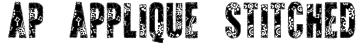 AP Applique Stitched Font
