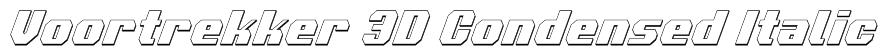 Voortrekker 3D Condensed Italic Font