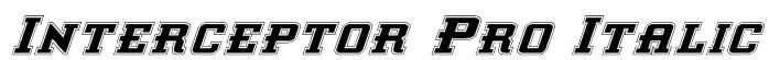 Interceptor Pro Italic Font