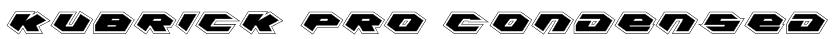 Kubrick Pro Condensed Font