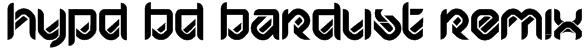 HYPD BD Bardust Remix Font