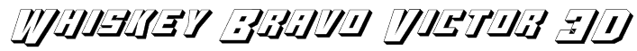 Whiskey Bravo Victor 3D Font