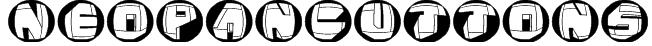 NeoPanButtons Font