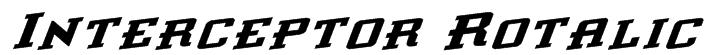 Interceptor Rotalic Font