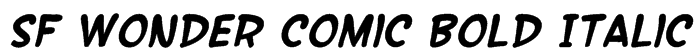 SF Wonder Comic Bold Italic Font