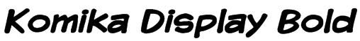 Komika Display Bold Font