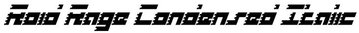 Roid Rage Condensed Italic Font