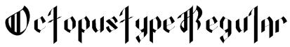 OctopustypeRegular Font