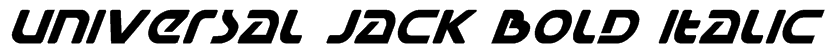 Universal Jack Bold Italic Font