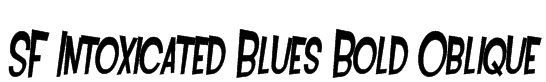 SF Intoxicated Blues Bold Oblique Font