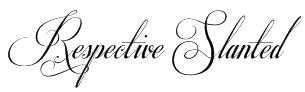 Respective Slanted Font