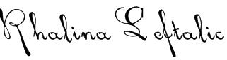 Rhalina Leftalic Font