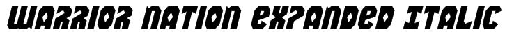 Warrior Nation Expanded Italic Font