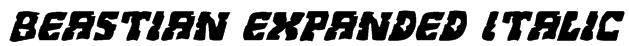 Beastian Expanded Italic Font