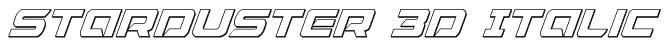 Starduster 3D Italic Font