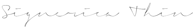 Signerica Thin Font