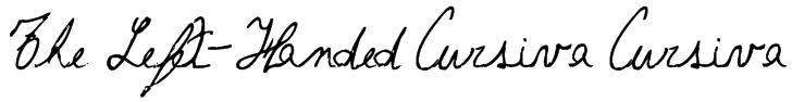 The Left-Handed Cursiva Cursiva Font