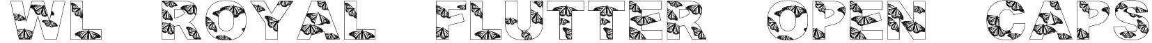 WL Royal Flutter Open Caps Font