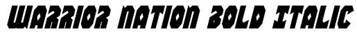 Warrior Nation Bold Italic Font