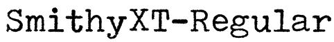 SmithyXT-Regular Font