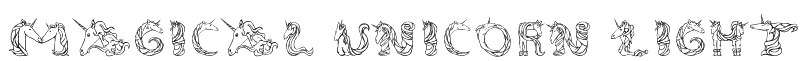 Magical Unicorn Light Font