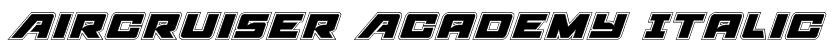 Aircruiser Academy Italic Font