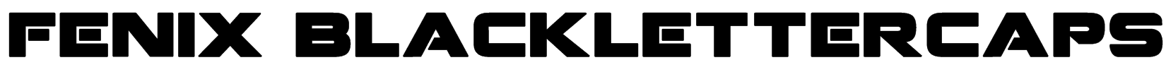 Fenix BlackletterCaps Font