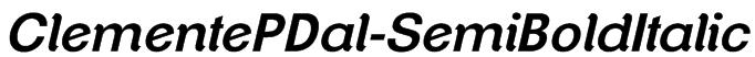 ClementePDal-SemiBoldItalic Font