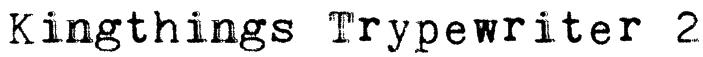 Kingthings Trypewriter 2 Font