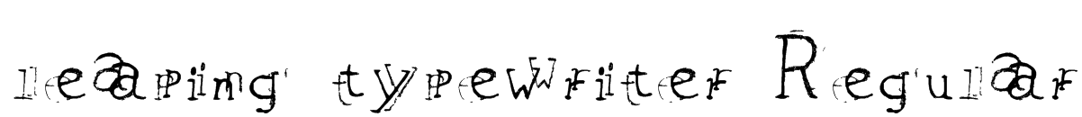 leaping typewriter Regular Font