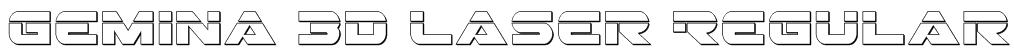 Gemina 3D Laser Regular Font