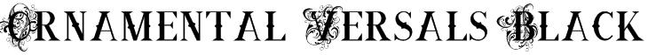 Ornamental Versals Black Font