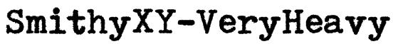 SmithyXY-VeryHeavy Font