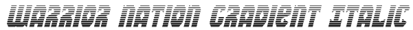 Warrior Nation Gradient Italic Font