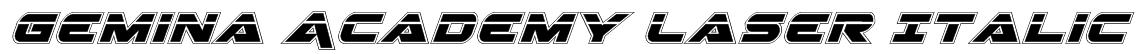 Gemina Academy Laser Italic Font