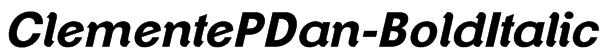 ClementePDan-BoldItalic Font