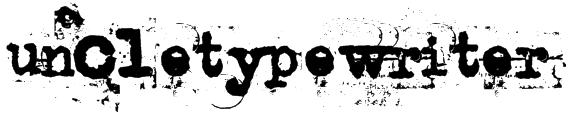 uncletypewriter Font