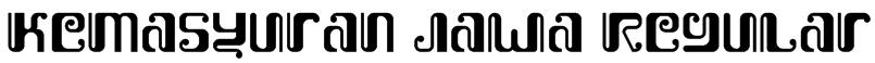 Kemasyuran Jawa Regular Font