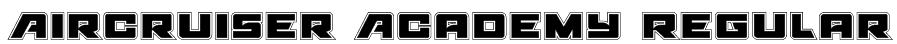 Aircruiser Academy Regular Font